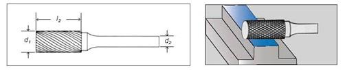 борфрезы цилиндрической формы